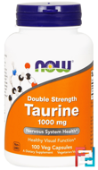 Taurine, Now Foods, 1000 mg, 100 Capsules
