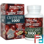 Ultra Cranberry 1000, Nature's Plus, 60 Tablets