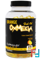 Orange OxiMega Fish Oil, Controlled Labs, 120 Softgels