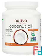 Organic Refined Coconut Oil, Nutiva, 54 fl oz (1.6 l)