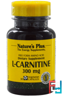 L-Carnitine, Nature's Plus, 300 mg, 30 Veggie capsules