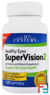 Healthy Eyes SuperVision2, 21st Century, 120 Softgels