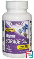 Vegan, Borage Oil, Deva, 90 Vegan Caps