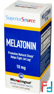 Melatonin, Superior Source, 10 mg, 100 MicroLingual Instant Dissolve Tablets