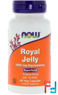 Royal Jelly, Now Foods, 1500 mg, 60 Veg Capsules