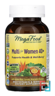 Multi for Women 40 +, MegaFood, 120 Tablets