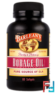 Borage Oil, Barlean's, 60 Softgels
