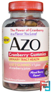 Cranberry Gummies, Mixed Berry Flavor, Azo, 72 Gummies