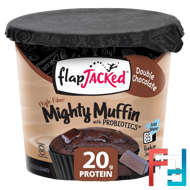 Mighty Muffin with Probiotics, Double Chocolate, FlapJacked, 1.94 oz (55 g)