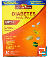 Daily Diabetes Health Pack, 30 Packets, Nature Made, 6 Supplements Per Packet