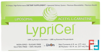 Liposomal, Acetyl L-Carnitine, LypriCel, 30 Packets, 0.2 fl oz, 5.7 ml