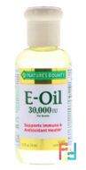 Vitamin E-Oil, Nature's Bounty, 30.000 IU, 2.5 fl oz, 74 ml
