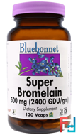 Super Bromelain, Bluebonnet Nutrition, 500 mg, 120 Vcaps