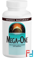 Mega-One, High Potency Multi-Vitamin with Minerals, Source Naturals, 60 Tablets