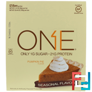 One Bar, Pumpkin Pie Flavor, Oh Yeah!, 12 Bars, 2.12 oz (60 g) Each