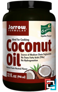 Organic Coconut Oil, Jarrow Formulas, 32 fl oz (946 ml)