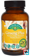 Ginseng Plus, Pure Planet, 500 mg, 100 Tablets
