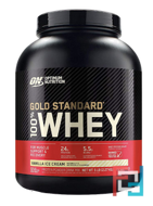 100% Whey, Gold Standard, Optimum Nutrition, 5 lb, 2270 g