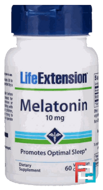 Melatonin, Life Extension, 10 mg, 60 Capsules