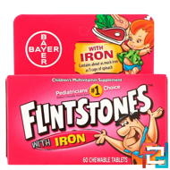 Children's Multivitamin with Iron, Fruit Flavors, Flintstones, 60 Chewable Tablets