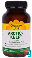 Artic-Kelp, Country Life, 225 mcg, 300 Tablets