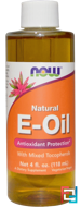 Natural E-Oil, Antioxidant Protection, Now Foods, 4 fl oz (118 ml)