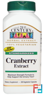Cranberry Extract, Standardized, 21st Century, 200 Veggie Caps