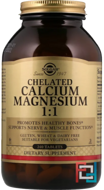 Chelated Calcium Magnesium 1:1, Solgar, 240 Tablets