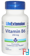 Vitamin B6, 250 mg, Life Extension, 100 Veggie Caps