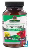 Resveratrol, Nature's Answer, 637 mg, 60 Vegetarian Capsules
