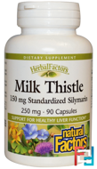 Milk Thistle, 250 mg, Natural Factors, 90 Capsules