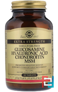 Glucosamine Hyaluronic Acid Chondroitin MSM, Solgar, 60 Tablets