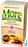 More Than A Multiple with Brain Essentials, American Health, 90 Tablets