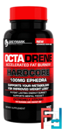 OctaDrene Hardcore, 100mg Ephedra+DMAA, Innovative Diet Labs, 90 capsules