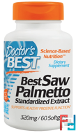 Saw Palmetto, Standardized Extract with Euromed, Doctor's Best, 320 mg, 60 Softgels