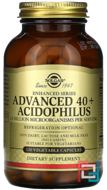 Advanced 40+ Acidophilus, Solgar, 120 Vegetable Capsules