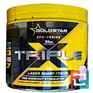 Triple X, 50 mg Ephedra, Gold Star, 295 g