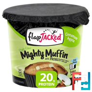 Mighty Muffin, with Probiotics, Cinnamon Apple, FlapJacked, 1.94 oz (55 g)