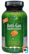 Anti-Gas Digestive Enzymes, Irwin Naturals, 45 Liquid Soft-Gels