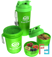 Shaker (Шейкер), 2 в 1, Slim, SmartShake, 400 ml - Neon Green