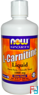 L-Carnitine Liquid, 1000 mg, Now Foods, 946 ml