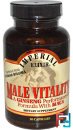Male Vitality, A Ginseng Performance Formula with Maca, Imperial Elixir, 90 Capsules