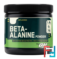 Beta Alanine Powder, Optimum Nutrition, Unflavoured, 262 g