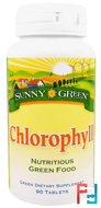 Chlorophyll, Sunny Green, 90 Tablets