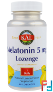 Melatonin Lozenge, KAL, 5 mg, 60 Lozenges