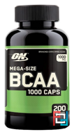BCAA 1000 Caps, Optimum Nutrition, 1000 mg, 200 capsules