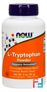 L-Tryptophan Powder, Now Foods, 57 g