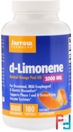 d-Limonene, Jarrow Formulas, 1000 mg, 180 softgels