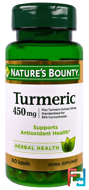 Turmeric, 450 mg, Nature's Bounty, 60 Capsules