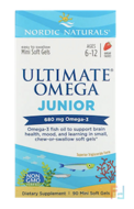 Ultimate Omega Junior, Strawberry, Nordic Naturals, 680 mg, 90 Mini Soft Gels